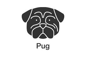 Pug glyph icon