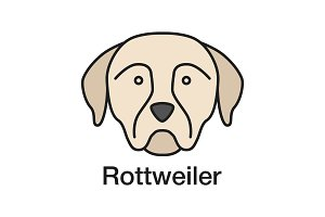 Rottweiler color icon