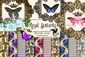 Royal Butterfly Graphics