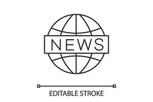 Global news linear icon