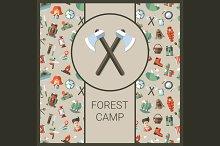 Flat Design Camping Card
