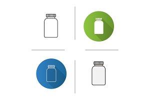Prescription pills bottle icon