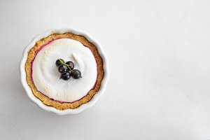 Homemade pie with summer berries and