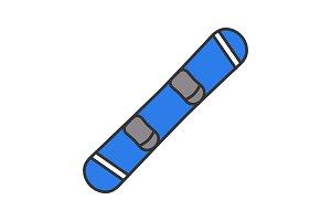 Snowboard color icon