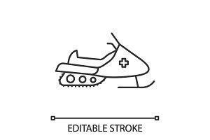 Snowmobile linear icon