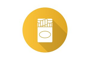 Open cigarettes pack icon