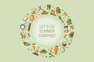 Summer Camping Illustration