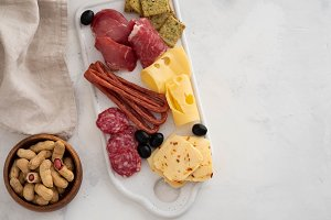 Typical italian antipasto,with
