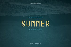 Summer Display Font family -70%