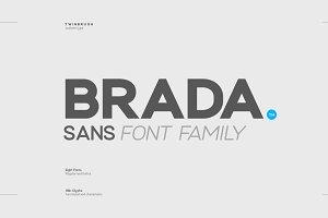 Brada sans - A designers font family