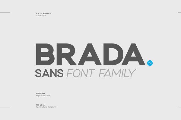 Sans Serif Fonts: Twinbrush Image Forge - Brada sans - A designers font family