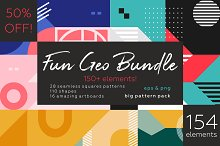 Fun Geometry pattern bundle.