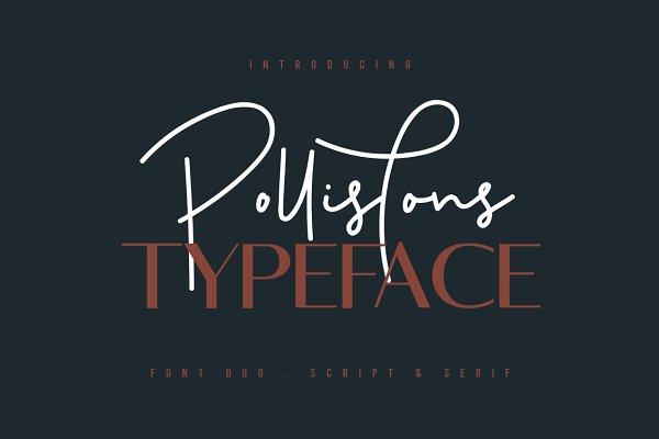Fonts: Maulana Creative - Pollistons Signature Font