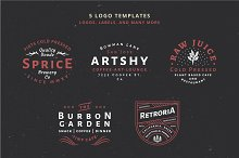 5 Vintage Badge Logos Vol 01 Part 1 by  in Logos