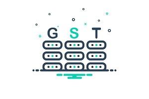 Gst tax icon