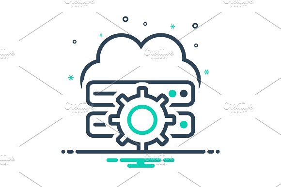 Cloud server icon