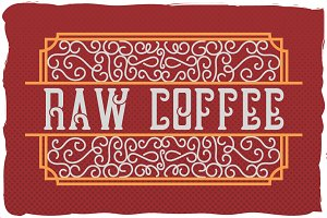 "Handcrafted font ""Raw Coffee"""