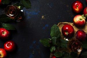 French apple brandy, dark background
