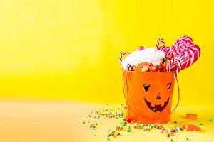Halloween sweets concept