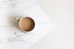 Minimalist Aerial View Of Coffee Mug