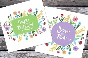 Greeting card or invitation. Vector