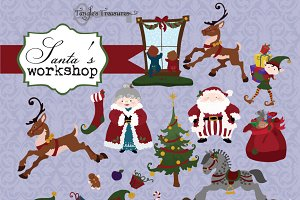 Santa's Elves Christmas Clipart