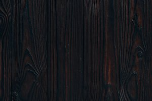 close up view of blank dark wooden b