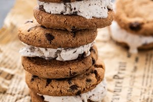 Homemade Chocolate Chip Cookie Ice
