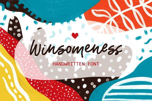 NEW! Winsomeness Handwritten Font!