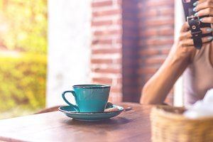 Woman drinking balinese coffee bali