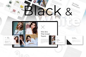 Black & White Powerpoint Template