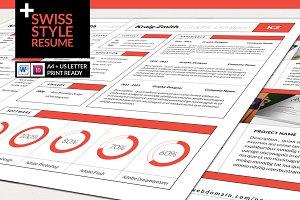 Swiss Style Resume