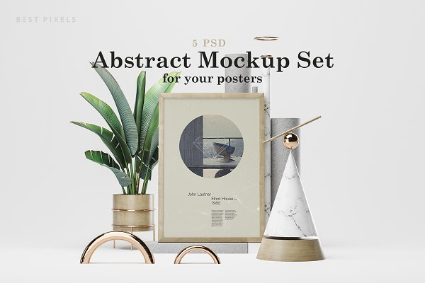 Product Mockups: Best Pixels - Abstract Mockup Set 2