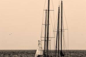 Yachts, black and white photography,