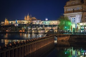 Night view on Prague