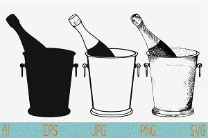 Champagne bottle ice bucket
