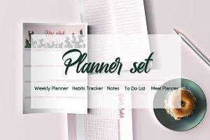 Cactus planner set