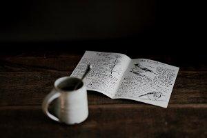 Mug and magazine