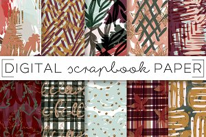 Fall Autumn Painterly Digital Papers