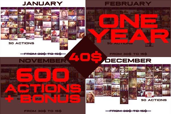 600+ Photoshop Actions + BONUS