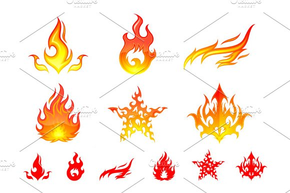 Fire Element Symbols ~ Graphic Objects ~ Creative Market