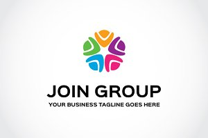 Join Group Logo Template