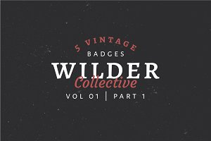 5 Vintage Badge Logos Vol 01 Part 1