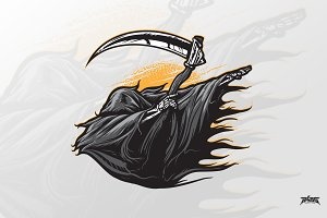 Grim Reaper Dabbing Vector