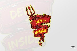 Devil Inside Vector Banner