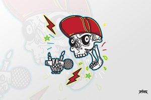 Funky Dope Skull Vector