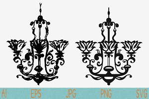 chandelier, set vector svg png eps