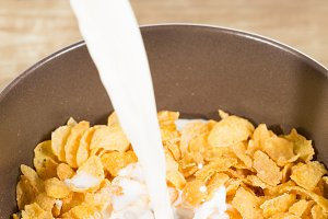 Milk with cereals