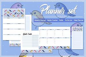 Birds planner set
