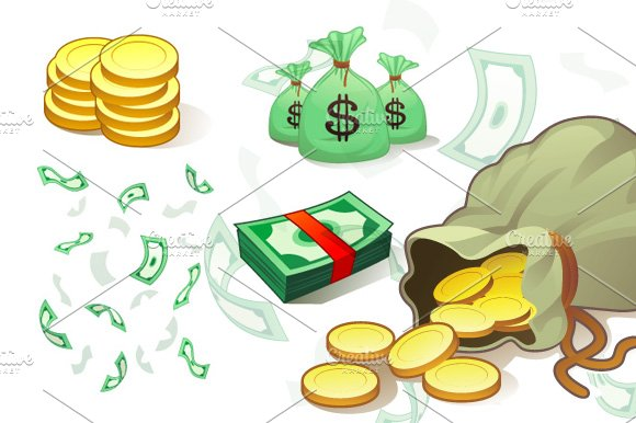 Money Symbols Objects Creative Market
